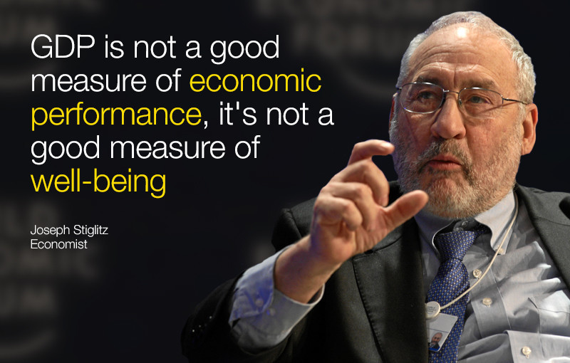 GDP is not a good measure of economic performance, it's not a good measure of well-being