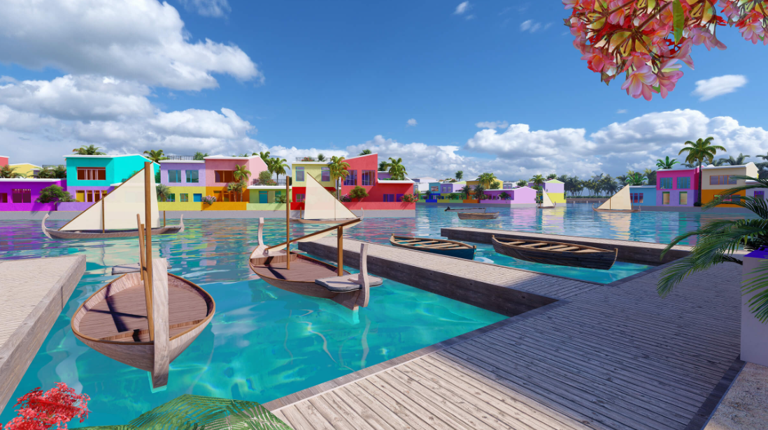 image of how the Maldives floating city is expected to look