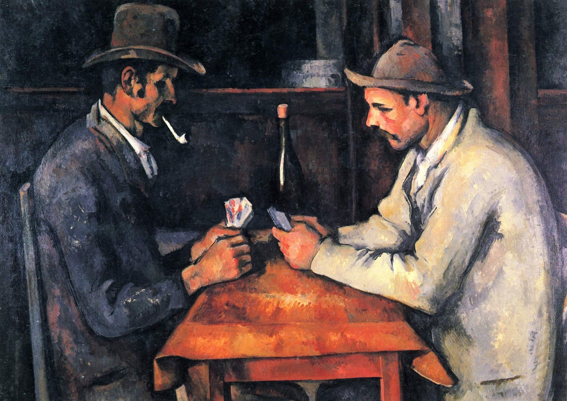 The Card Players series was painted in Cézanne's final period in the early 1890s