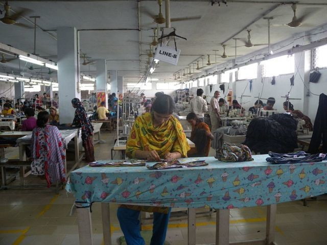 Garment factory in Dhaka, Bangladesh.