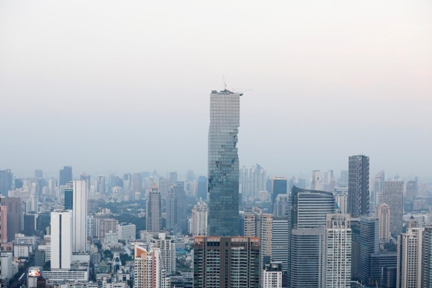 MahaNakhon Tower, one of the highest hotels in the capital of Thailand