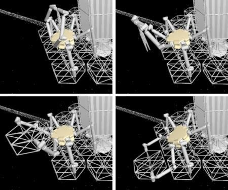 Space telescope robots