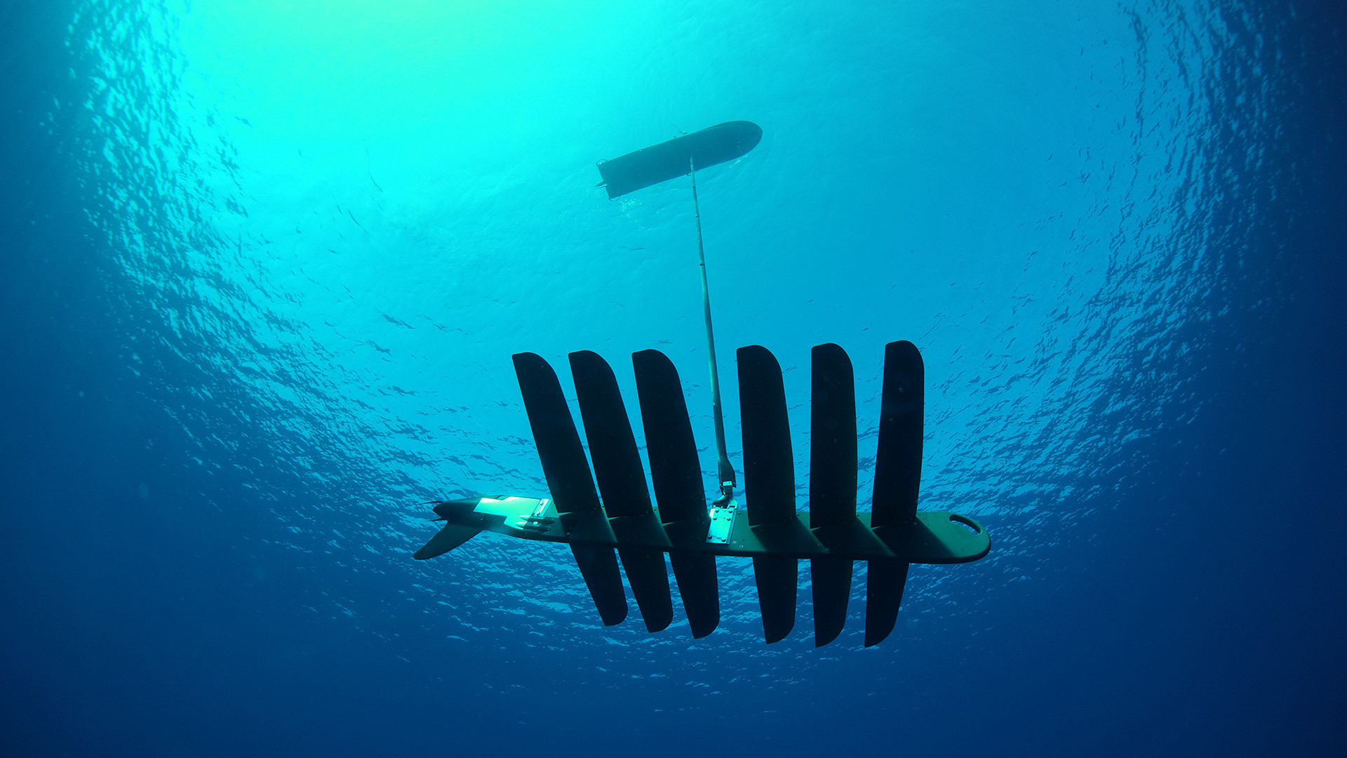 The Wave Glider: This unmanned craft uses wave energy to collect and share ocean data
