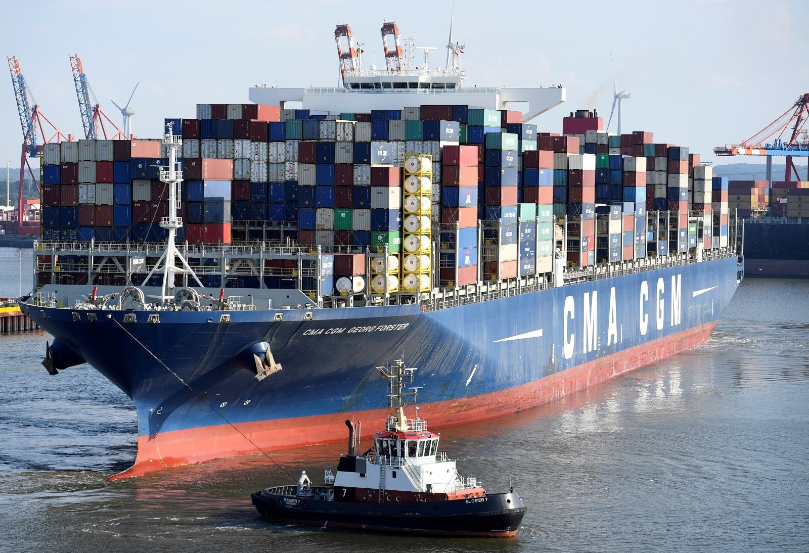 Vast container ships are a vital part of the global supply chain.