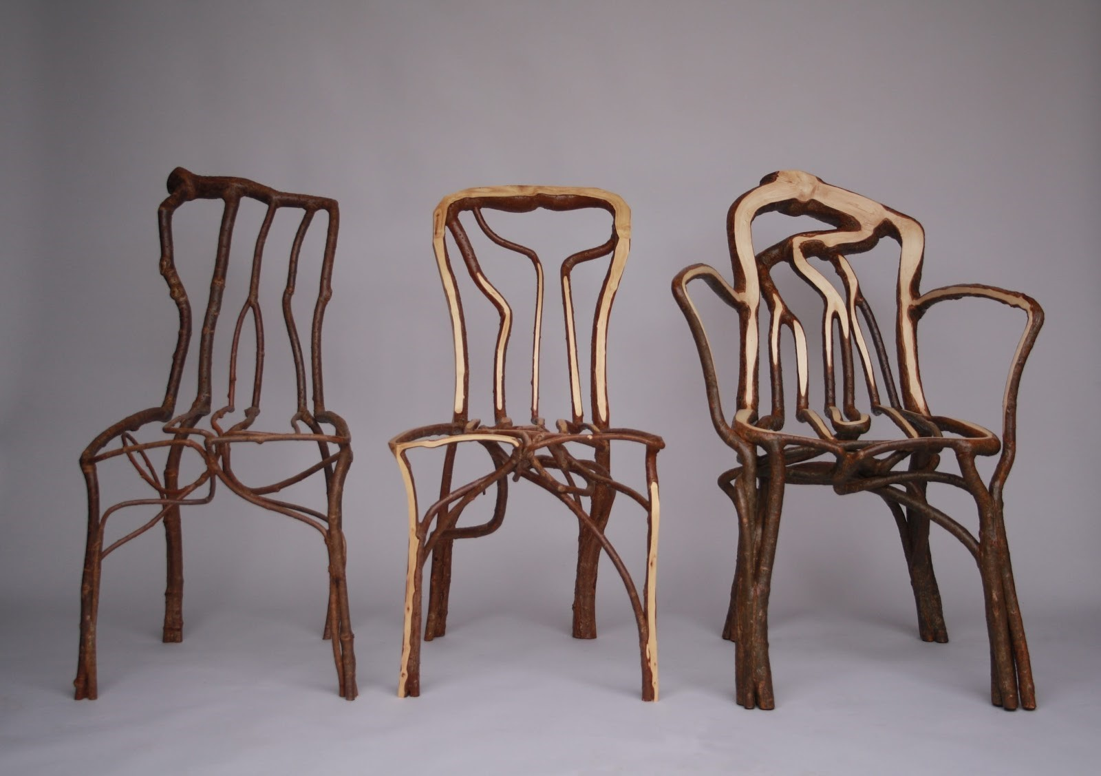 It takes the company four to eight years to produce a specially grown chair.