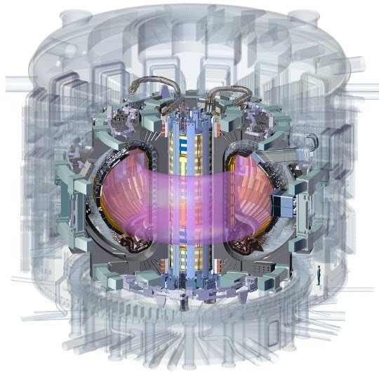 a diagram of the reactor showing the magnet and the plasma