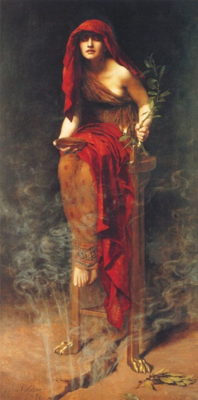 John Collier, Priestess of Delphi, 1891.