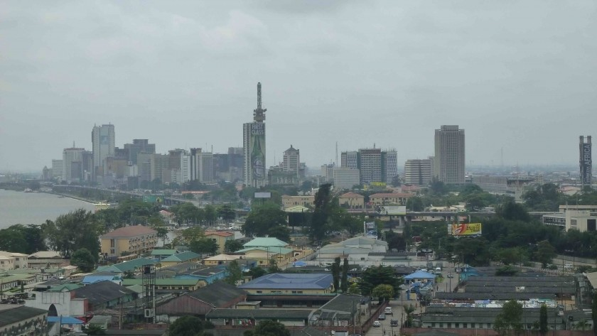 La skyline de Victoria Island à Lagos, au Nigeria