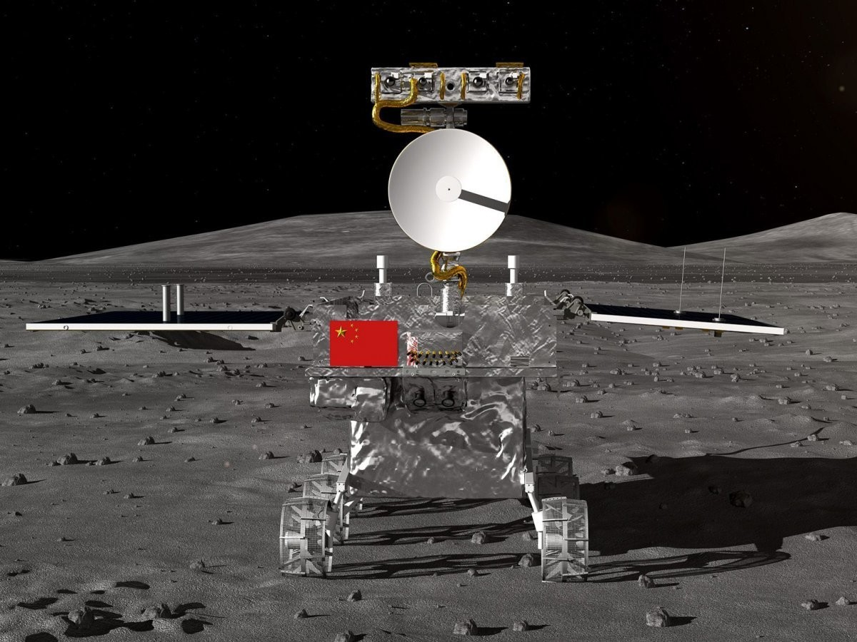 A rendering of a lunar rover for China's Chang'e-4 moon mission.