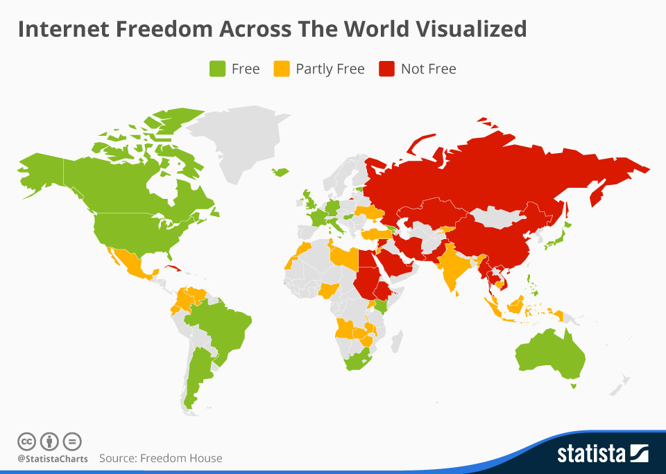 Internet freedom in 2015: since then, even Western democracies have put in place measures that threaten freedom online.