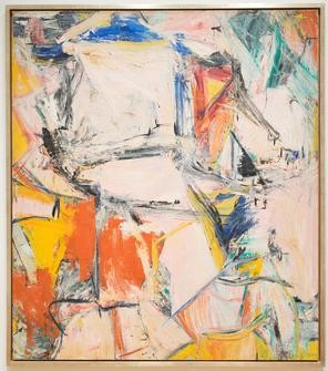 Willem de Kooning's Interchange is currently displayed at the Art Institute of Chicago