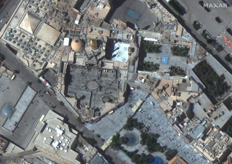 SEBELUM: Kuil Hazrat Masumeh, Qom, Iran 25 September 2019. Citra satelit 2020 Maxar Technologies / Handout via REUTERS