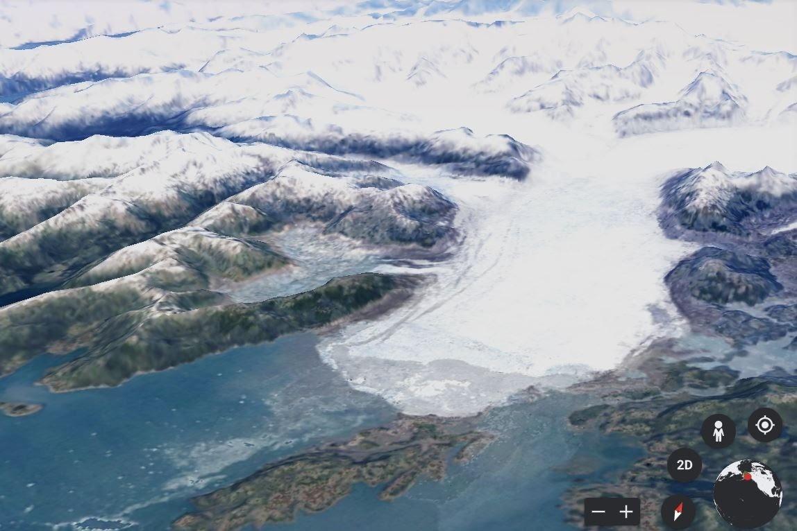 image of columbia Glacier, Prince William Sound, Alaska in 1984