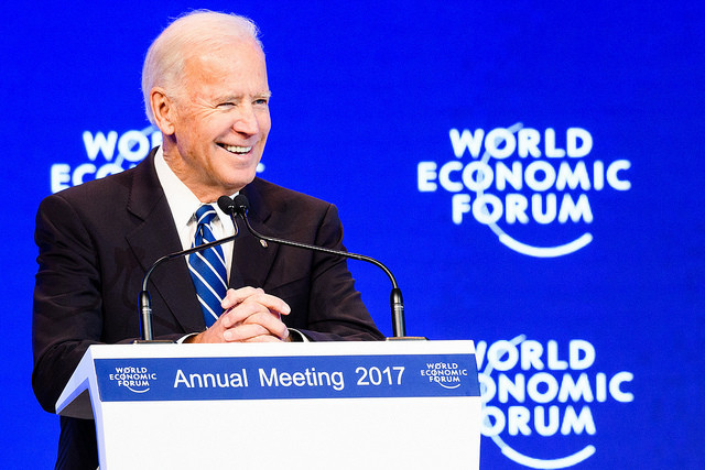 Joseph R. Biden Jr, former Vice-President of the United States of America at the Annual Meeting 2017 of the World Economic Forum in Davos, January 18, 2017
