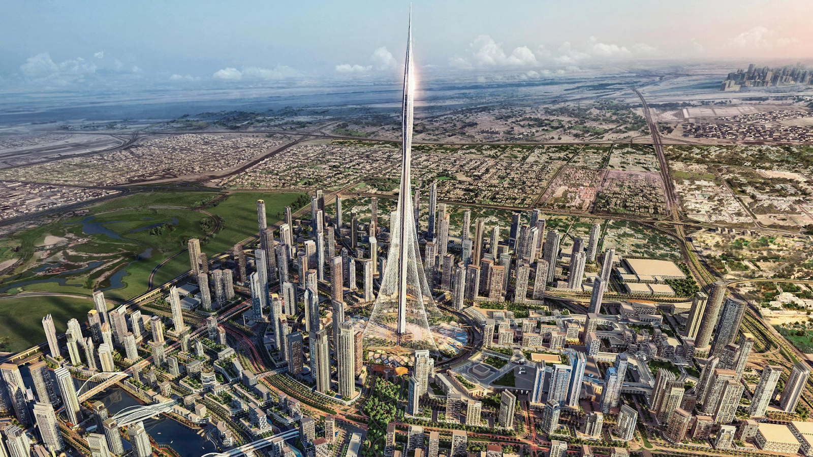 Artist's impression shows how Dubai Creek Tower will look.