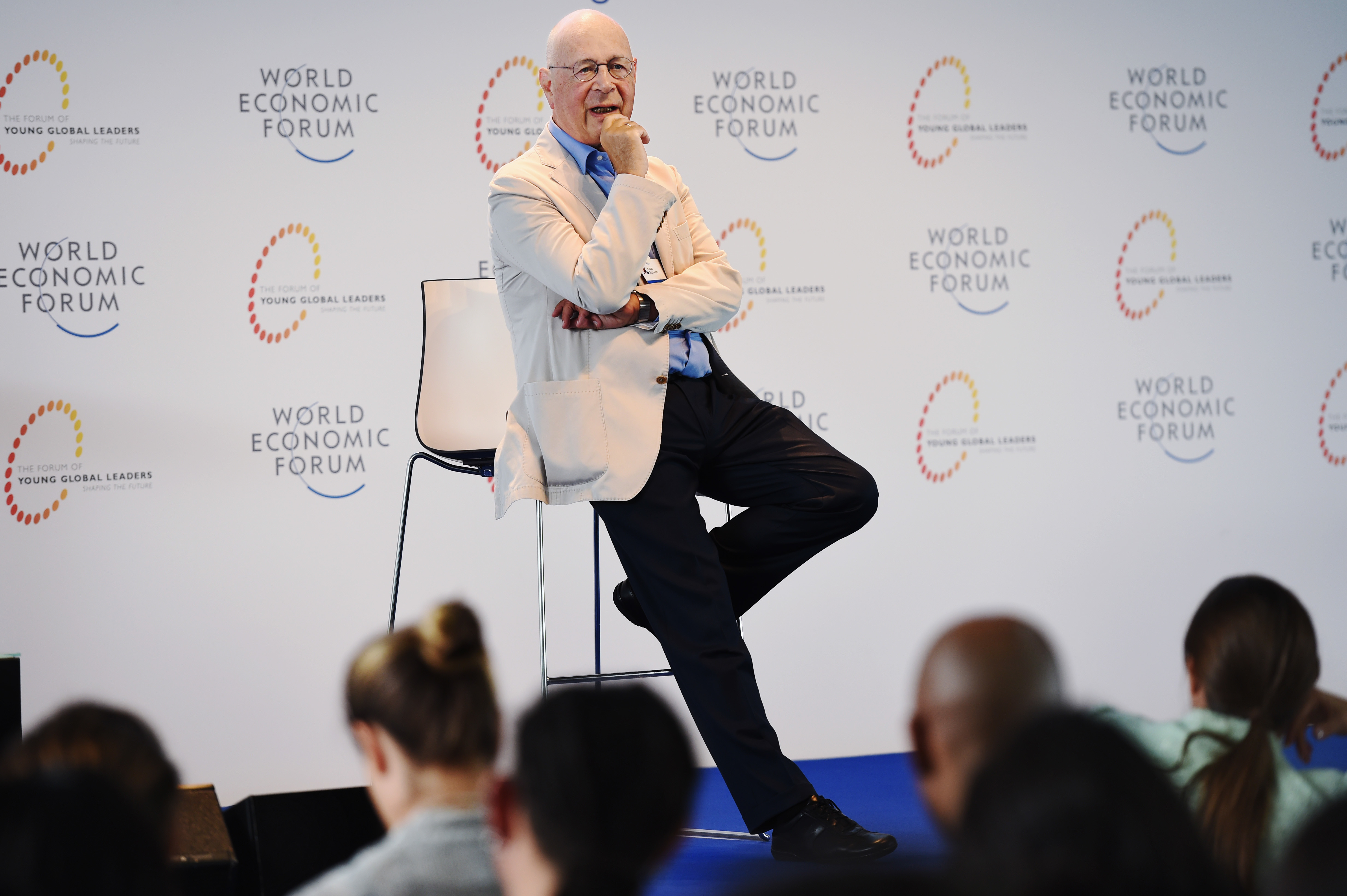 11/08/2015. Geneva. WEF Headquaters. Young Global Leaders and Alumni Annual Summit.Pierre Abensur/WEF. Plenary Session Klaus Schwab