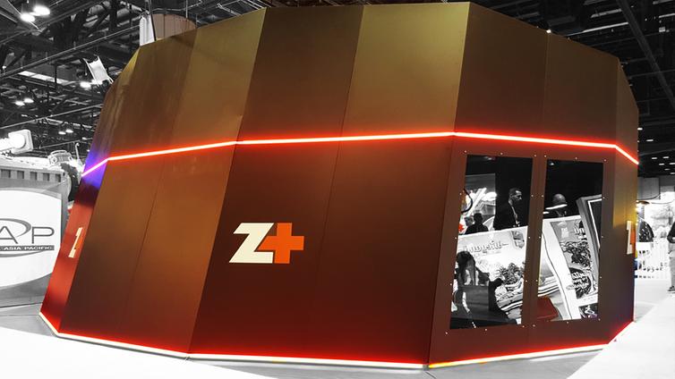 Zamperla's Z+ VR Box at IAAPA 2017.