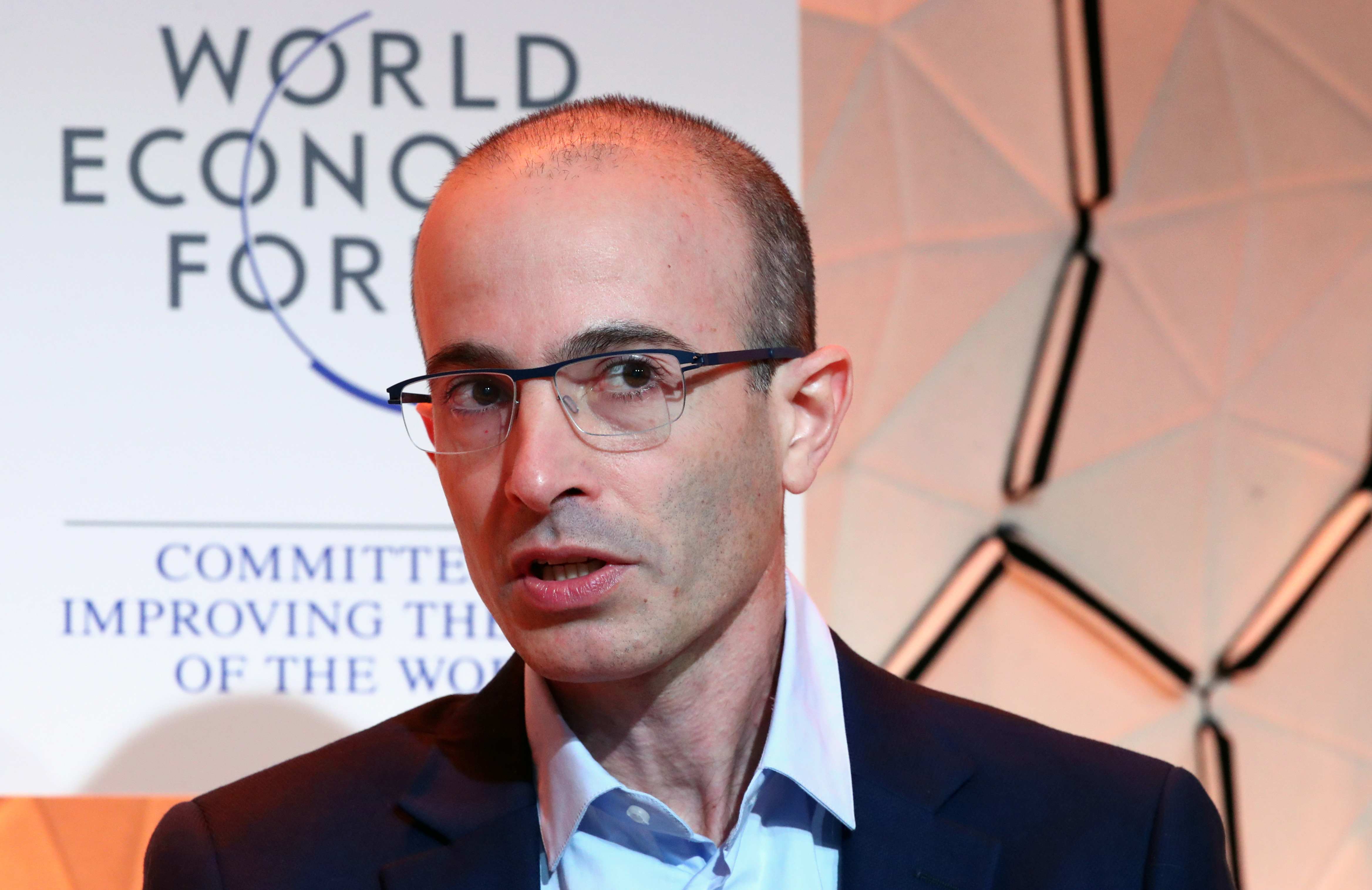Yuval Noah Harari of Hebrew University of Jerusalem attends a session at the 50th World Economic Forum (WEF) annual meeting in Davos, Switzerland, January 21, 2020. REUTERS/Denis Balibouse - RC29KE90M17D