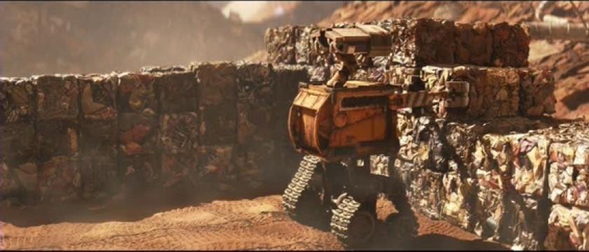 La fonction de récompense du robot Wall-E (Andrew Stanton, 2008) consiste à compacter les déchets.