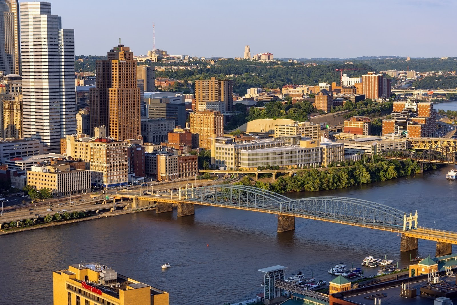 A bridge in Pittsburgh.