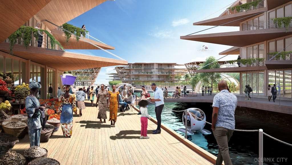 Oceanix city s'adresse en premier lieu aux zones tropicales, les plus menacées par les catastrophes naturelles et où la culture est plus facile.