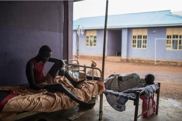 Patients rest at the Maban Referral Hospital.