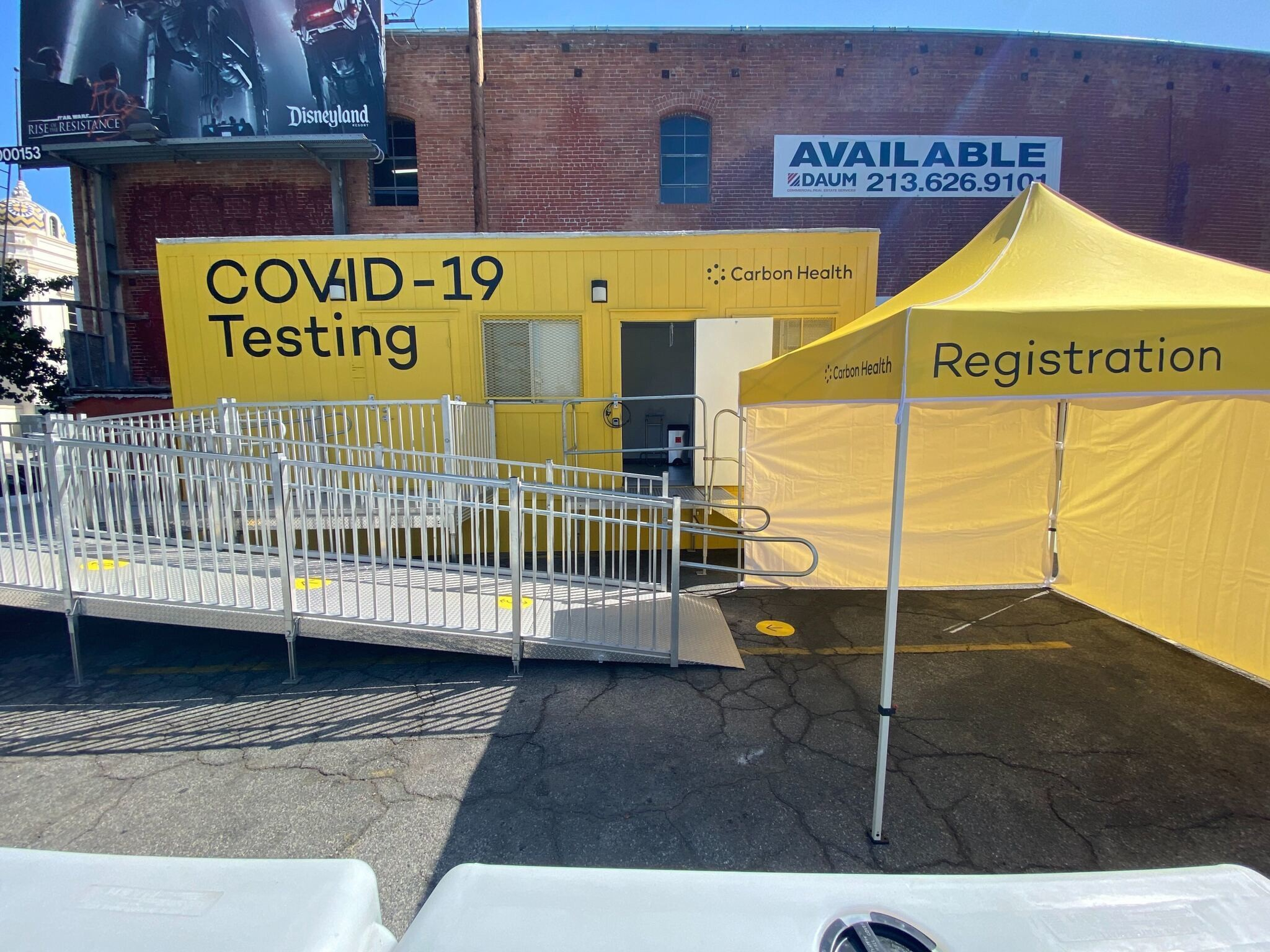 One of Carbon Health's pop-up COVID-19 clinics.
