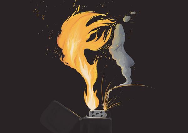 Allumer un briquet récalcitrant demande plus de réflexion qu'il n'y paraît.