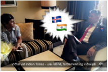 A snapchat of Iceland's foreign minister.