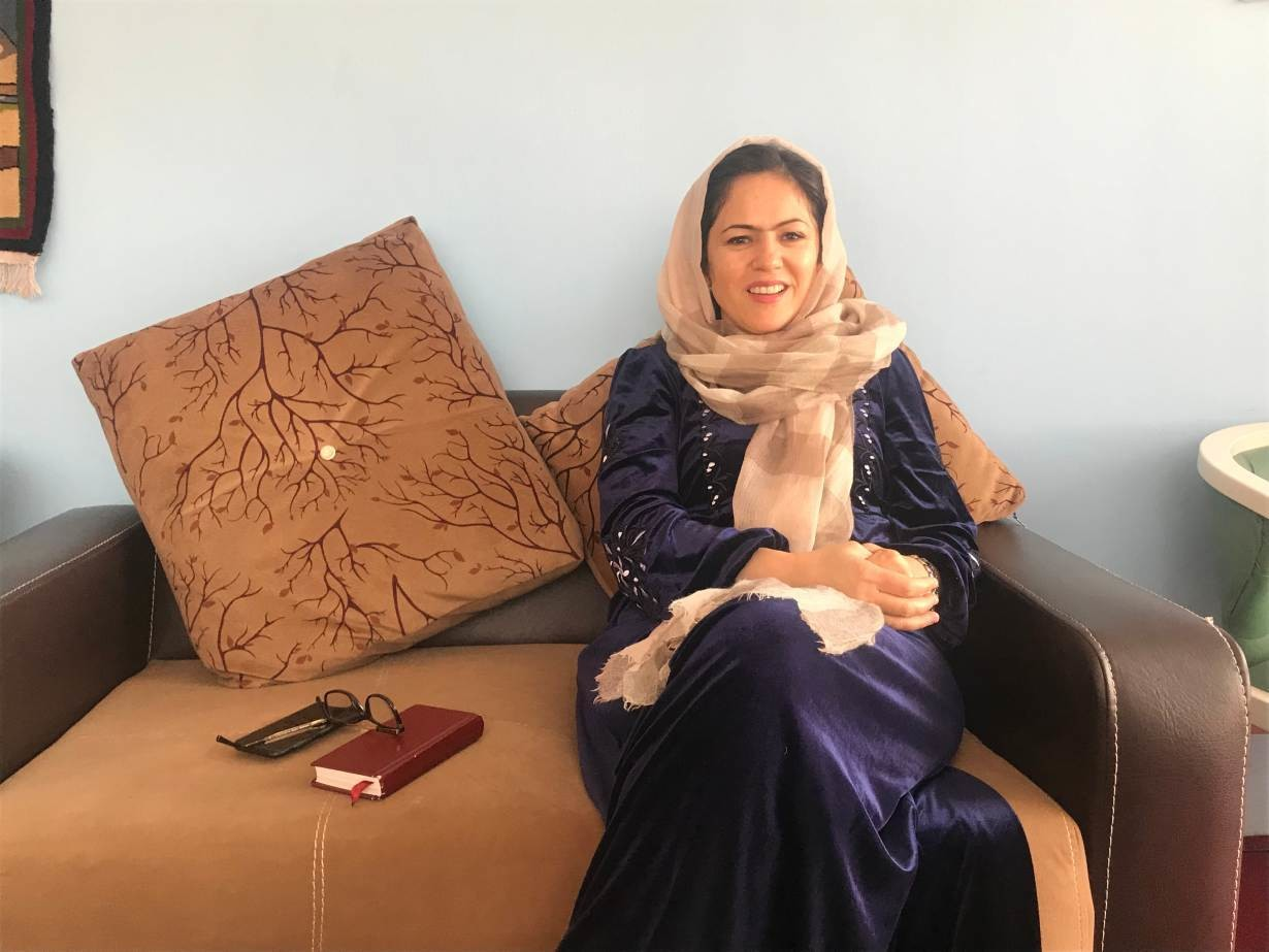 Fawzia Koofi, Afghanistan's first female deputy of the lower house of parliament, and the first woman to set up a political party, in her office in Kabul. November 5, 2019.