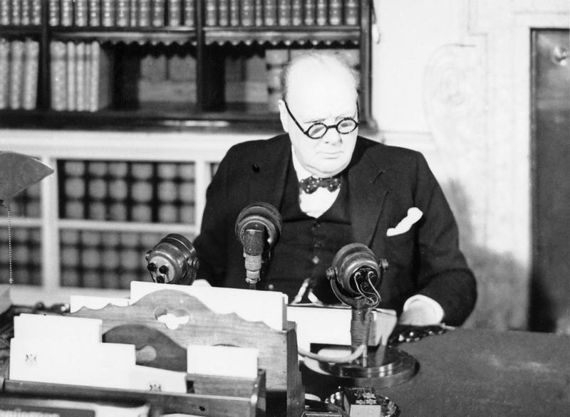 Churchill makes a speech