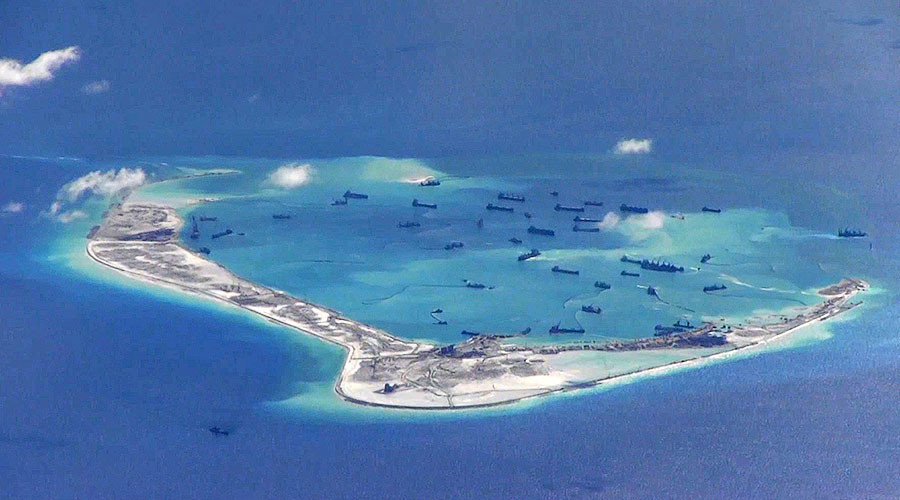 Subi Reef, Spratly Islands in the South China Sea.
