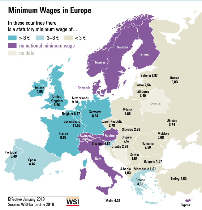 These countries have the highest minimum wages | World