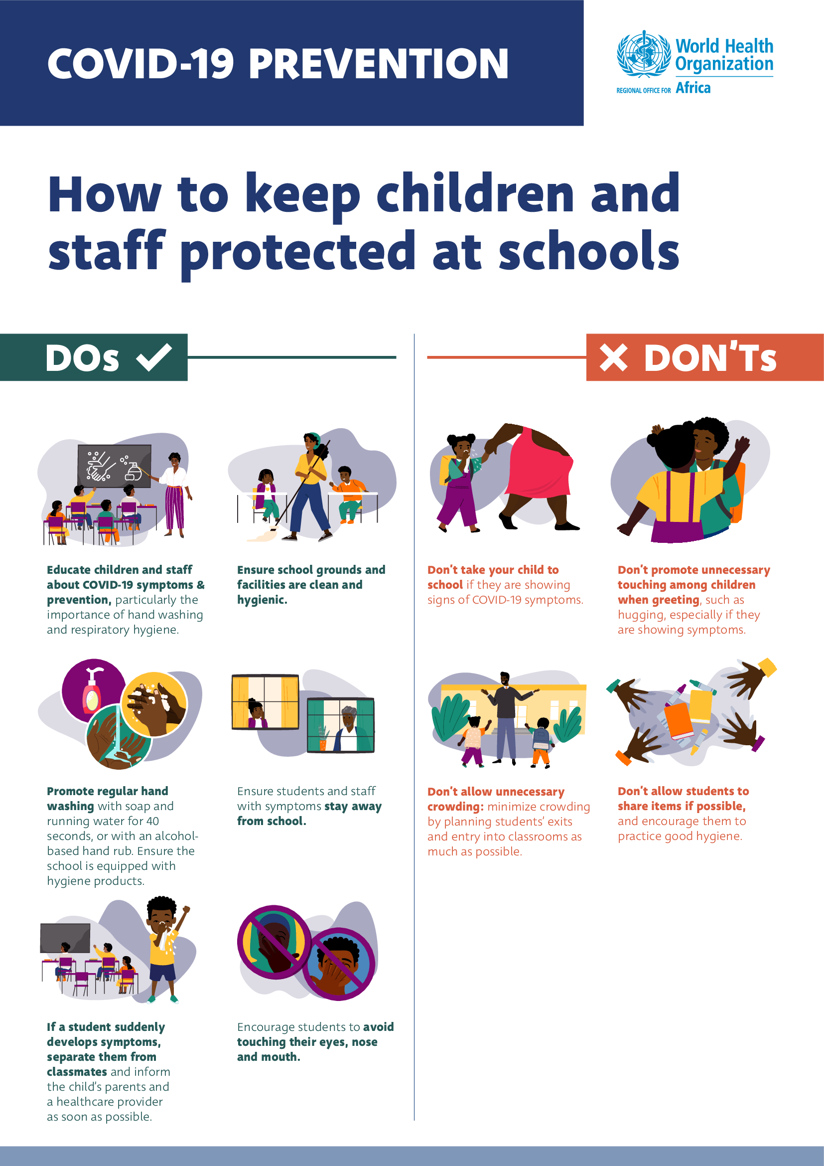 this diagram shows how to keep children and staff protected at school