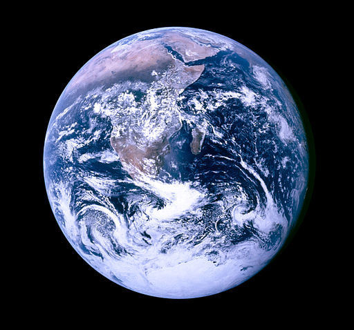 By NASA. Photo taken by either Harrison Schmitt or Ron Evans (of the Apollo 17 crew). [Public domain], via Wikimedia Commons