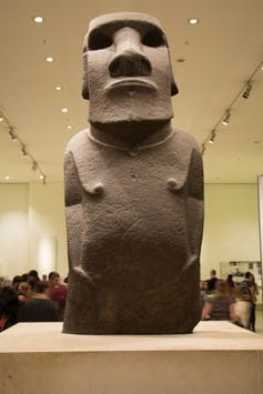 The rightful owners The Hoa Hakananai'a: a Moai at the British Museum.