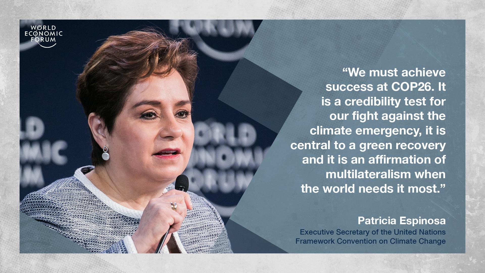 Patricia Espinosa United Nations COP26 environment