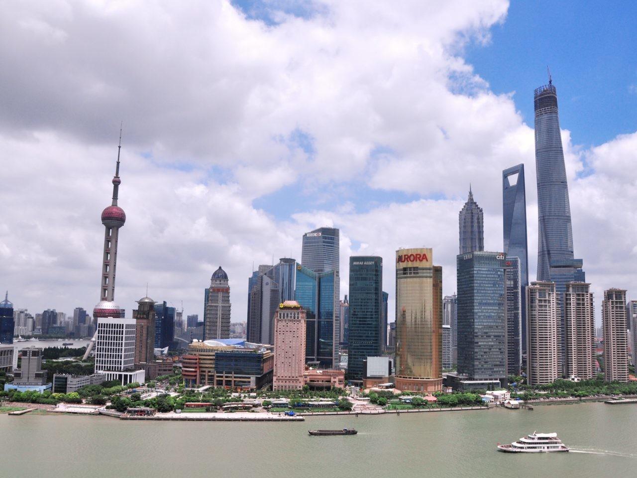 Quartier de Pudong, Shanghai, Chine.