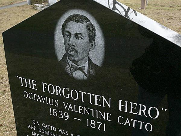 Octavius Catto's tombstone.