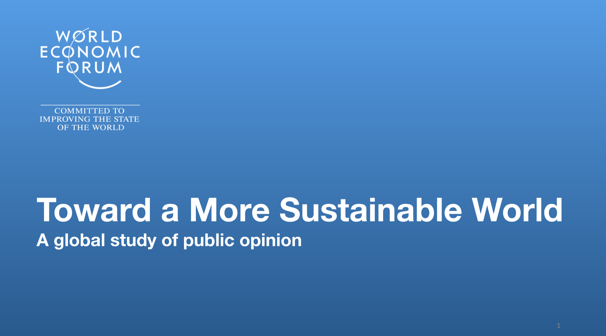 A global study of public opinion on Sustainable World