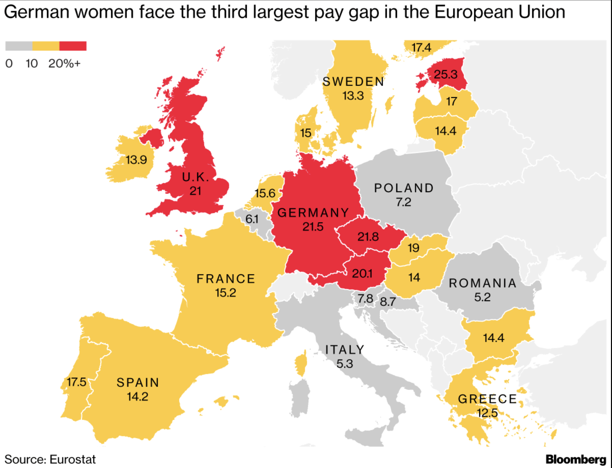 Europe still has a lot of work to do to close its gender pay gaps