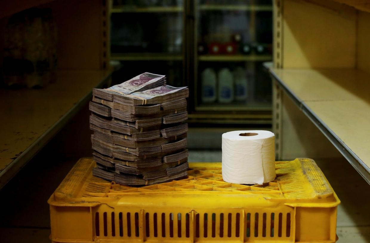 A toilet paper roll cost 2,600,000 bolivares ($0.40) before Aug. 20.