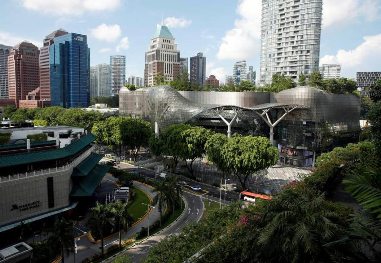 A general view of shopping malls in the shopping district of Orchard Road in Singapore June 2, 2016.