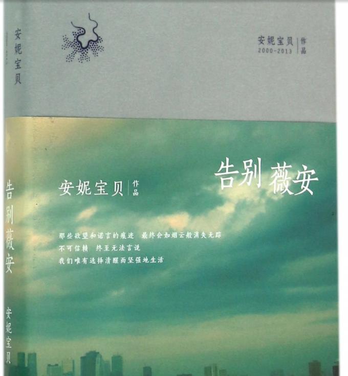 """La couverture de """"Adieu Vivian"""", le premier roman publié d'Anni Baobei"""