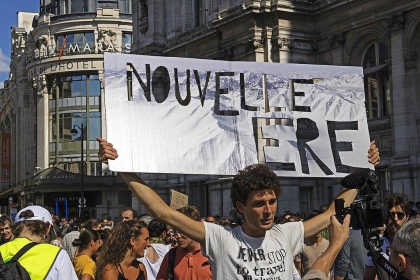 Des manifestants lors de la marche pour le climat organisée le 8 septembre, à Paris. (
