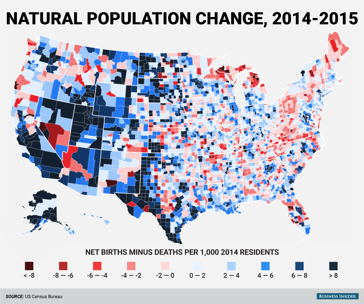 These Maps Explore Modern American In Ways You Might Not Have - Us-population-map-by-county