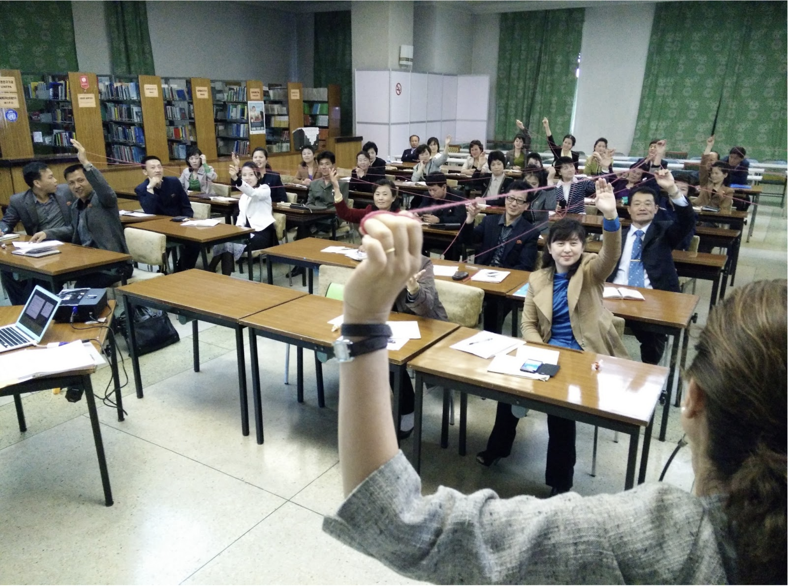 A Choson Exchange training session in North Korea