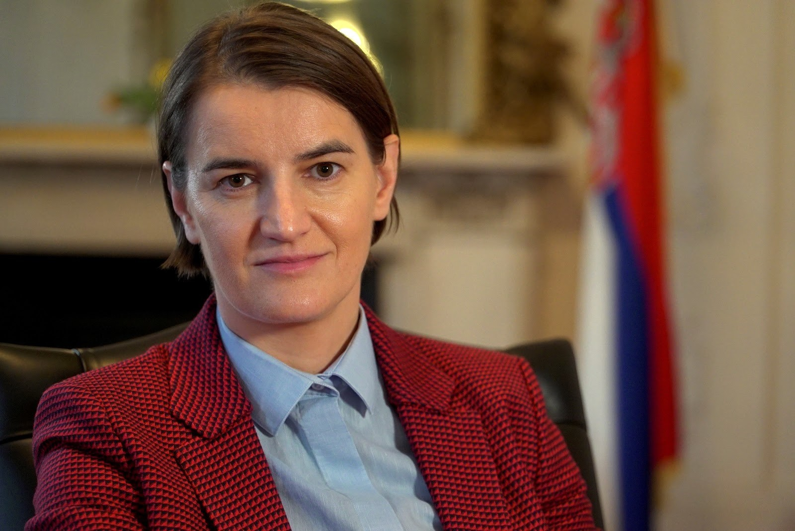 Serbia's Prime Minister Ana Brnabic poses for a portrait after an interview at Serbia's Embassy in London, Britain, February 25, 2018. REUTERS/Will Russell - RC13360E48C0