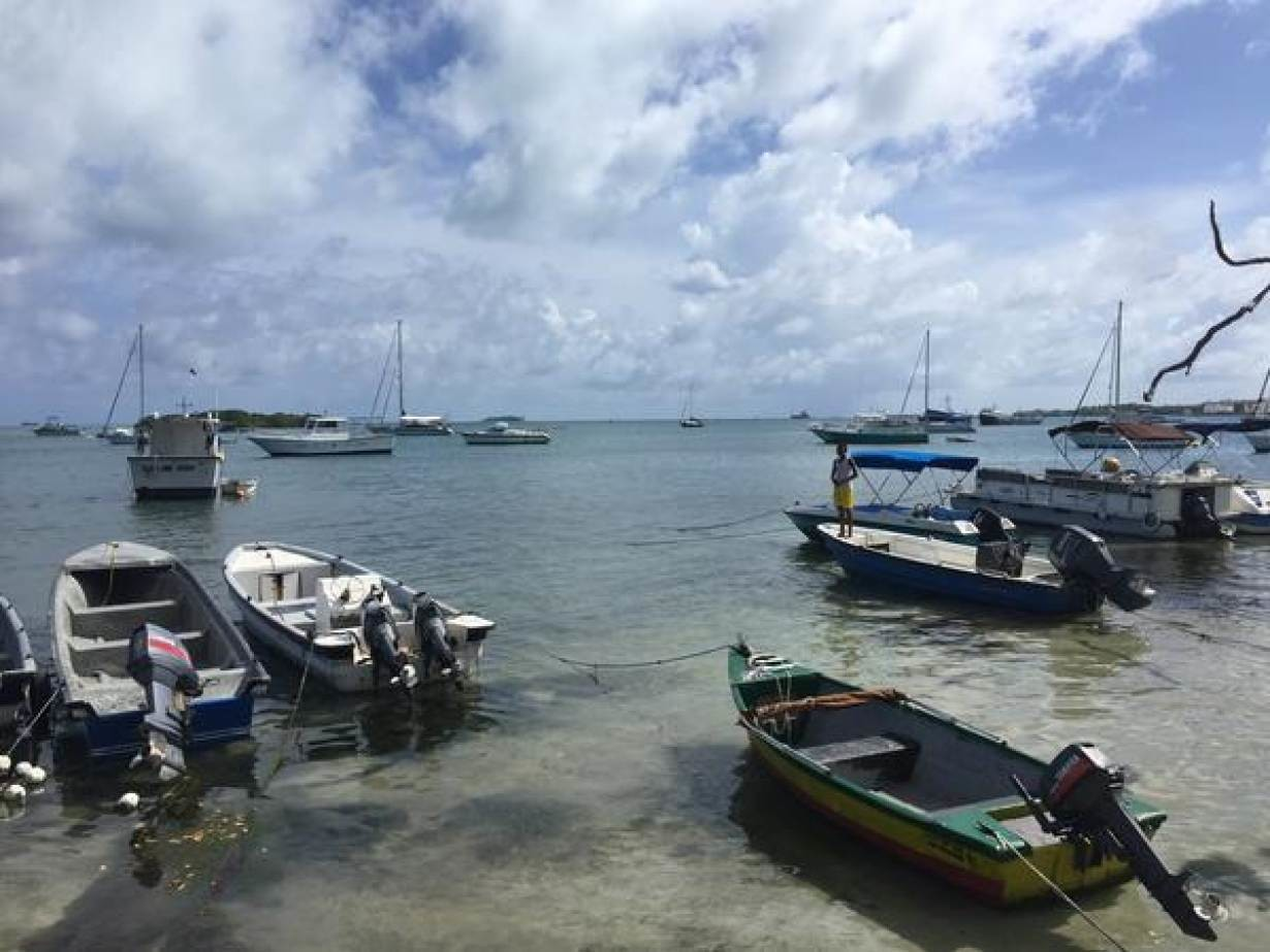 Fishing boats docked at the harbour in the island of San Andres, Colombia, October 23, 2018.