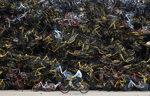 Xiamen: unwanted bicycles are becoming an eyesore